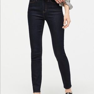 "J Crew 9"" High Rise Toothpick Jeans"